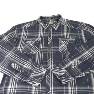 BKE Athletic Fit Plaid Button Up Western Shirt XXL